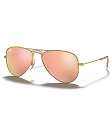 Ray-Ban Junior Sunglasses, RJ9506S AVIATOR MIRROR ages 7-10