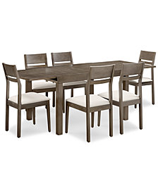 Emilia Dining Furniture, 7-Pc. Set (Table & 6 Side Chairs)