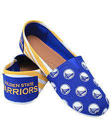 Forever Collectibles Women's Golden State Warriors Canvas Stripe Shoes