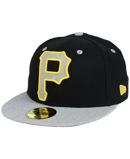 New Era Pittsburgh Pirates Full Heather XL Logo 59FIFTY Cap