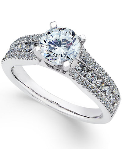 Certified Diamond Engagement Ring (1-3/4 ct. t.w.) in 18k White Gold