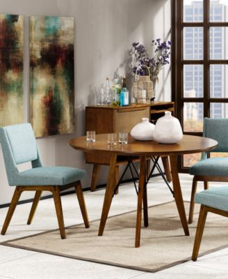 Merveilleux The Light Pecan And Blue Tones Of The Boomerang Dining Room Collection  Coupled With Their Familiar Mid Century Styling Can Instantly Brighten Your  Dining ...