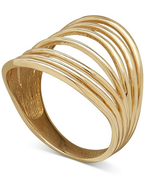 Macy's Seven Row Polished Statement Ring in 18k Gold