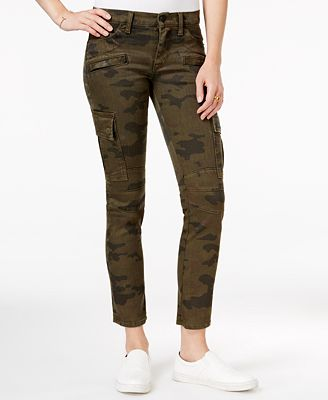 Hudson Jeans Rustic Camo Print Cropped Skinny Cargo Jeans