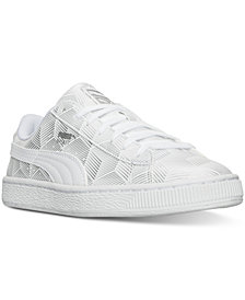 Puma Men's Basket Classic Metallic Casual Sneakers from Finish Line