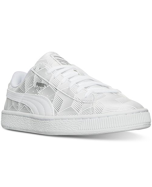a2a8bc49c6a0 Puma Men s Basket Classic Metallic Casual Sneakers from Finish Line ...