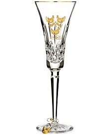 12 Days Collection Lismore Three French Hens Gold Flute