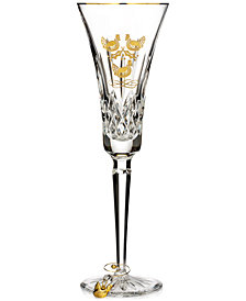 Waterford 12 Days Collection Lismore Three French Hens Gold Flute