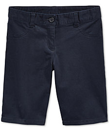 Nautica School Uniform Bermuda Shorts, Big Girls