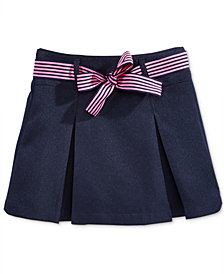 Nautica School Uniform Contrast-Ribbon Scooter Skirt, Big Girls
