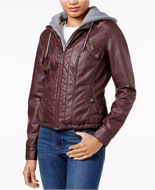 3b9df8bf9c47 Jou Jou Juniors  Faux-Fur-Lined Faux-Leather Jacket   Reviews ...