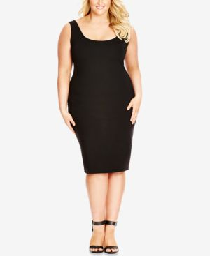 Image of City Chic Plus Size Sleeveless Bodycon Dress