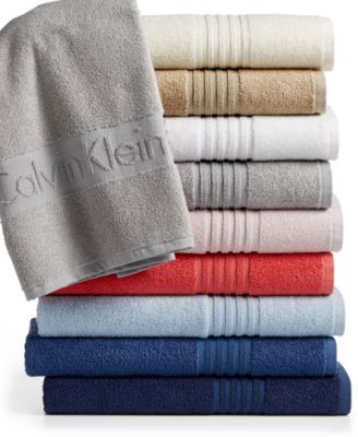 Image of CLOSEOUT! Calvin Klein Modern Cotton Iconic Bath Towel