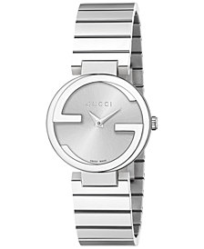 Gucci Unisex Swiss Interlocking Stainless Steel Bracelet Watch 29mm YA133503