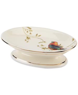 Image of Avanti Bath Accessories, Gilded Birds Soap Dish Bedding