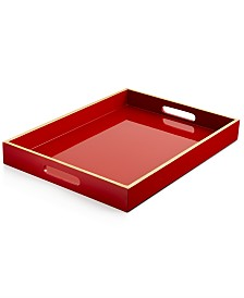 Home Design Studio Large Light Lacquer Handled Tray Only At Macy S