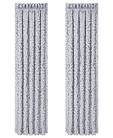 "CLOSEOUT! J Queen New York Harrison Chrome 100"" x 84"" Window Drapery"