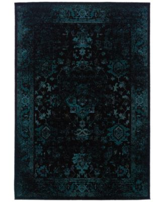 """CLOSEOUT! Revamp REV7689G Turquoise 6'7"""" x 9'6"""" Area Rug"""