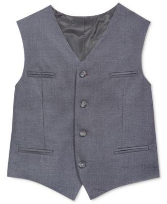 Fine-Line Twill Vest, Big Boys