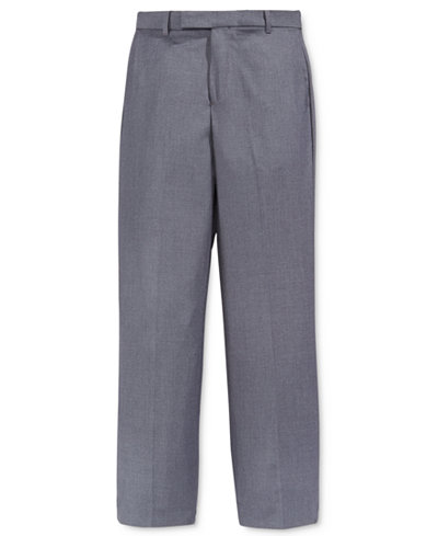 Calvin Klein Fine Line Twill Suiting Pants, Big Boys