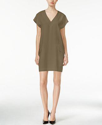 Bar III V-Neck Shift Dress, Created for Macy's