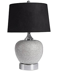 Rory Silver-Tone Beaded Table Lamp