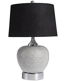 Abbyson Living Rory Silver-Tone Beaded Table Lamp