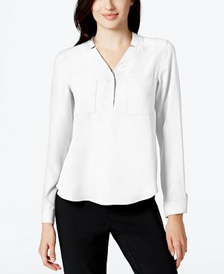 Nine West Notched Collar Blouse Tops Women Macy S