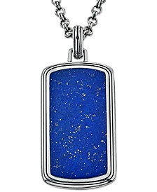 Lapis Lazuli (29 x 14mm) Tag Pendant Necklace, Created for Macy's