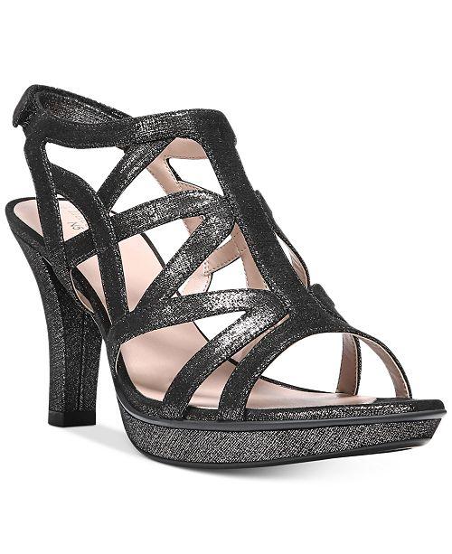 Danya Metallic Caged Dress Sandals khma6