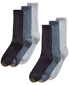 Gold Toe Men's 6-Pk. Harrington Crew Socks