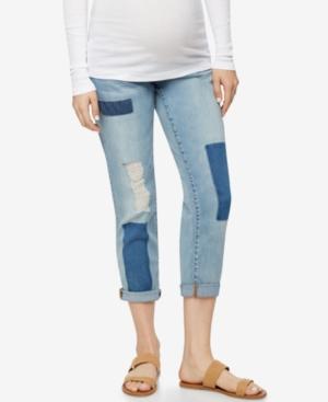 Luxe Essentials Denim Maternity Boyfriend Jeans