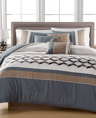 Closeout Beckett Embroidered 7 Pc King Comforter Set