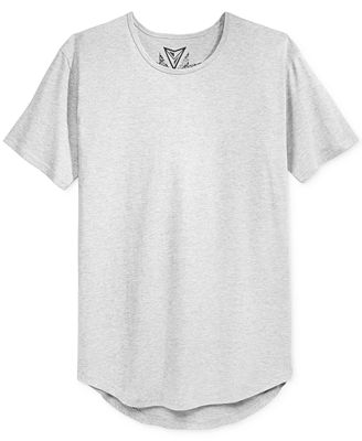Univibe Men's Long Rounded-Hem T-Shirt