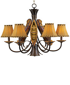 Pacific Coast Old River Canoe Chandelier