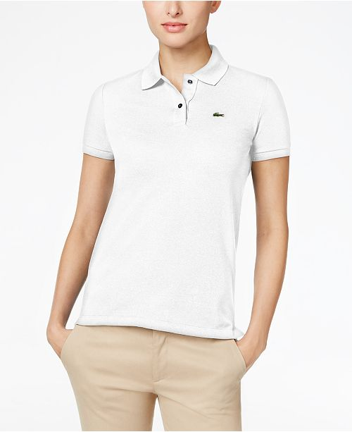 Lacoste Two-Button Classic-Fit Polo Shirt - Tops - Women - Macy s 51d887bb4c