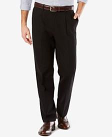 Dockers Men's Big & Tall Signature Lux Cotton Classic Fit Pleated Stretch Khaki Pants