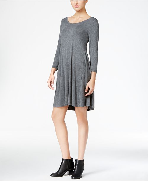 for Co Style Swing Created Macy's Hthr Petite amp; Grey Mid Dress YY4rP5qn