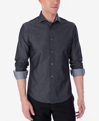 Calvin klein x men 39 s extra slim fit reversible stretch for Extra slim dress shirt