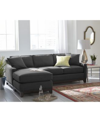 Keegan Fabric 2Piece Sectional Sofa Furniture Macys