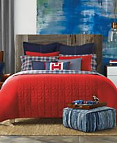 CLOSEOUT! Tommy Hilfiger Academy Red Bedding