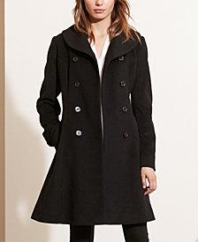 Lauren Ralph Lauren Double-Breasted Fit & Flare Walker Coat