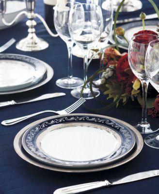Image 2 of CLOSEOUT! Noritake Dinnerware Crestwood Cobalt Platinum Collection & CLOSEOUT! Noritake Dinnerware Crestwood Cobalt Platinum ...