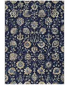 "Couristan Taylor Adaline Navy-Cream 2'7"" x 7'10"" Runner Rug"