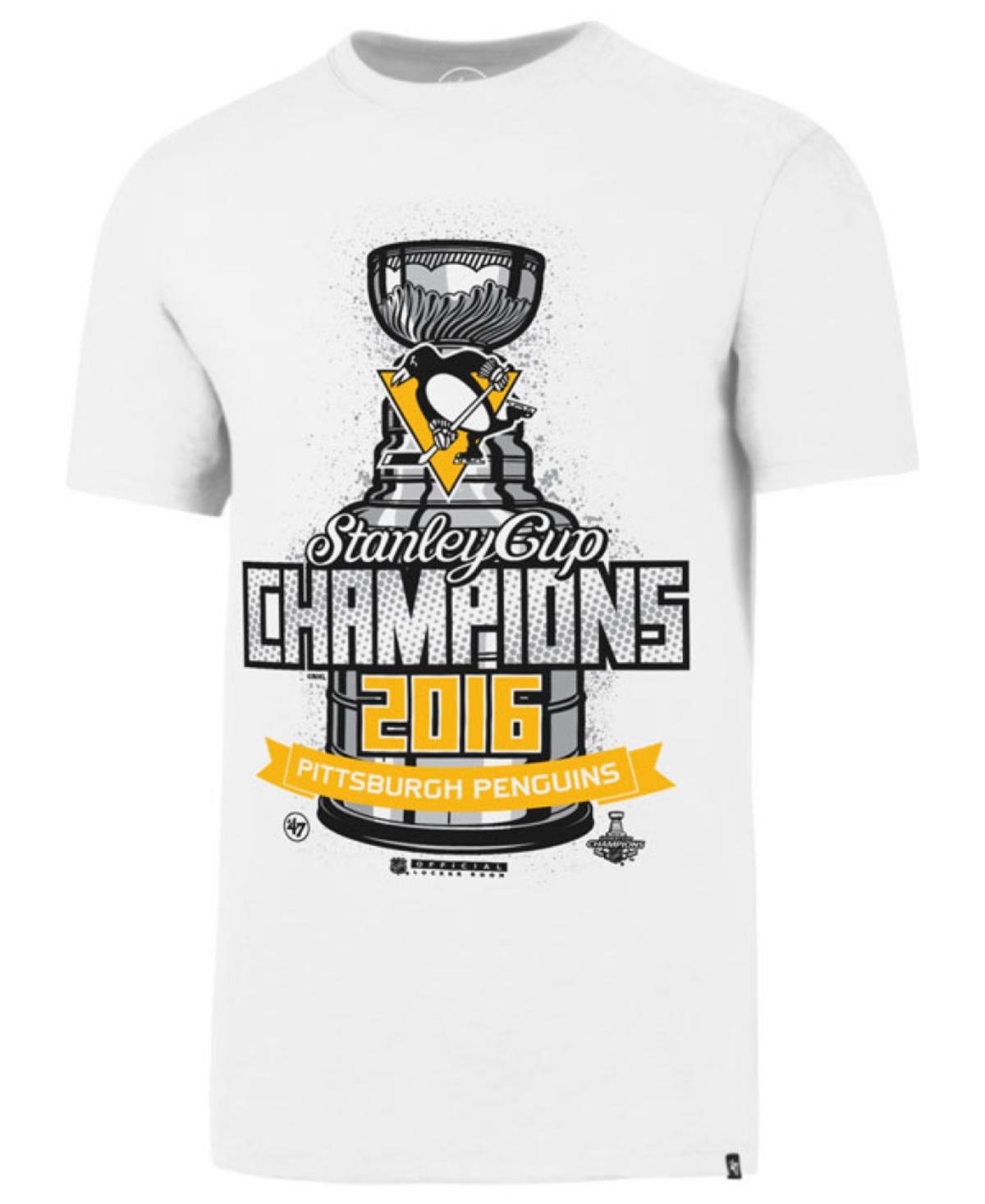 47 Brand Pittsburgh Penguins Nhl Mens Stanley Cup Champ Locker Room T-Shirt