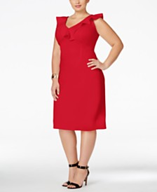 Love Squared Trendy Plus Size Ruffled Bodycon Dress