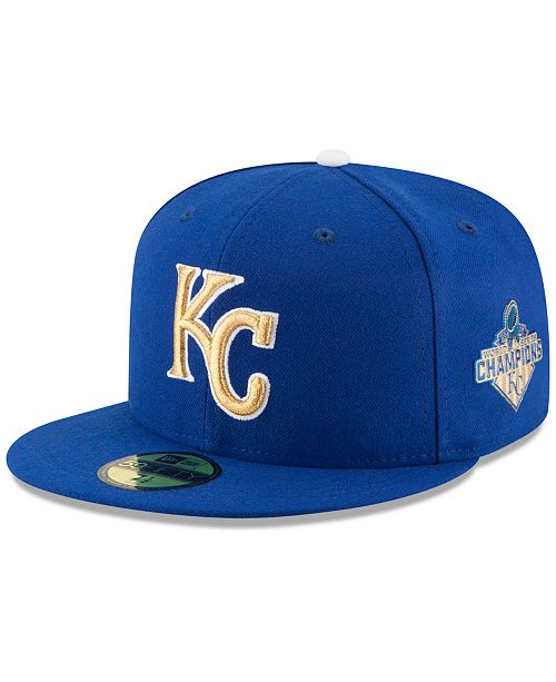 timeless design 28c7e 0d1dd Kansas City Royals 2015 World Series Commemorative Gold AC 59FIFTY Cap