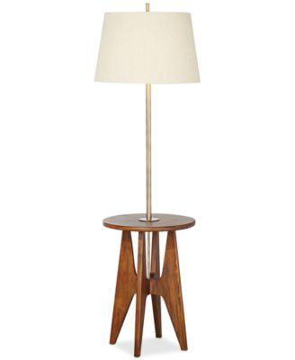 pacific coast mid century wood floor lamp