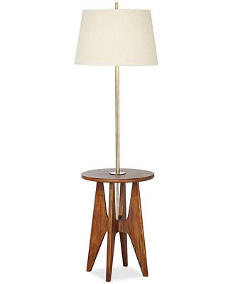 Pacific coast wood floor lamp with accent table