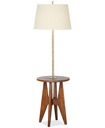 Pacific coast wood floor lamp with accent table lighting lamps pacific coast wood floor lamp with accent table mozeypictures Gallery